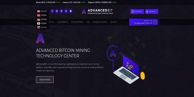 AdvancedBit —  Обзор и Отзывы о высокодоходный проекте — advancedbit.net